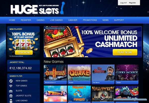 Hugeslots Sign Up Bonus