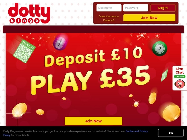 Dotty Bingo Mobile Login