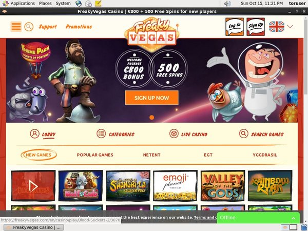 Freakyvegas Casino Reviews