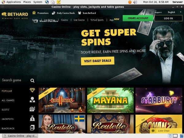 BetHard Casino Paypal Account