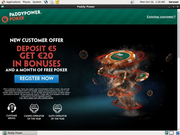Paddypower Free Bet Offer