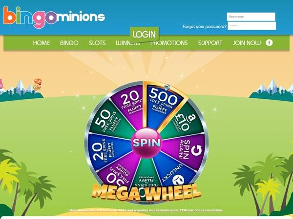 Bingo Minions カジノボーナス