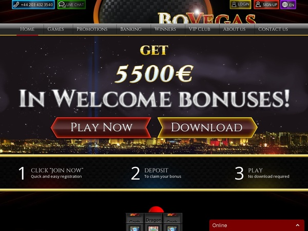 Bovegas Offer Bonus