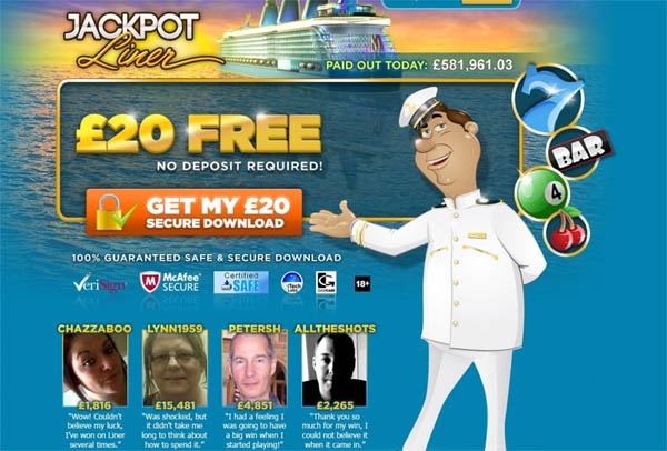 Jackpot Liner UK Deposit By Phone
