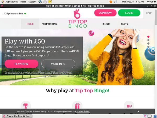 Tiptopbingo Free Bet Terms