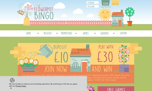 Flower Pot Bingo Games Bonus