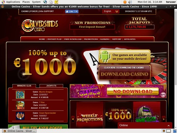 Silver Sands Casino Games Today